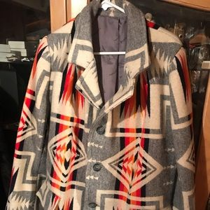 Jackets & Blazers - Vintage Chief Joseph Wool Blanket Coat Women's
